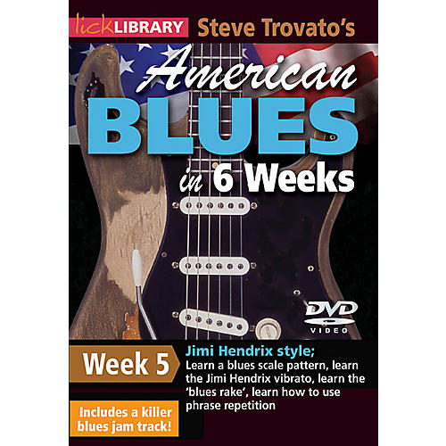 Licklibrary Steve Trovato's American Blues in 6 Weeks (Week 5) Lick Library Series DVD Performed by Steve Trovato thumbnail