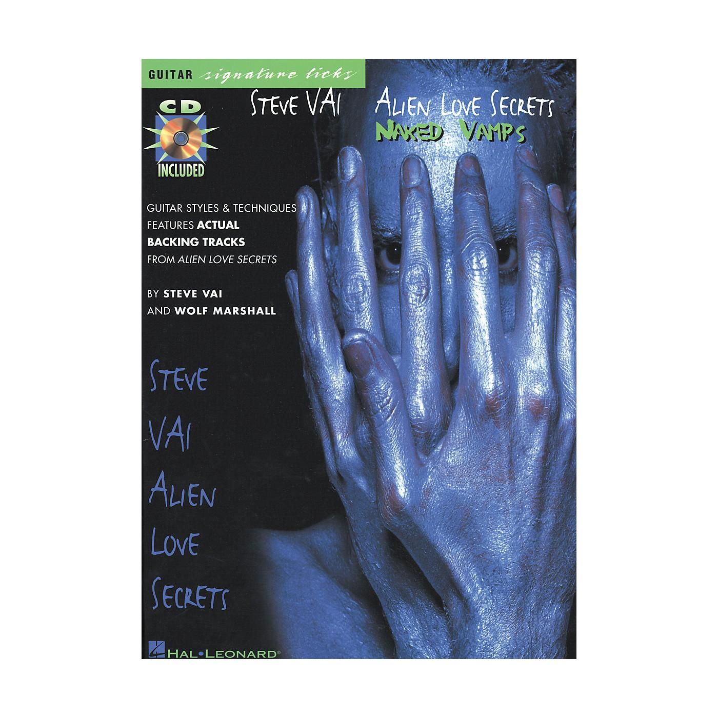 Hal Leonard Steve Vai - Alien Love Secrets: Naked Vamps Signature Licks Book/CD thumbnail
