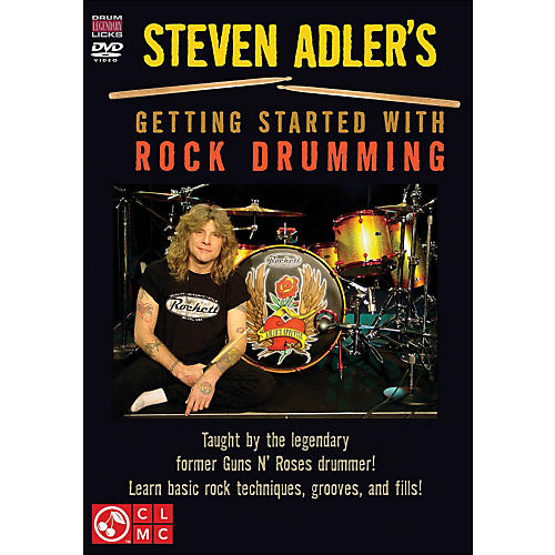 Cherry Lane Steven Adler's Getting Started with Rock Drumming (DVD) thumbnail