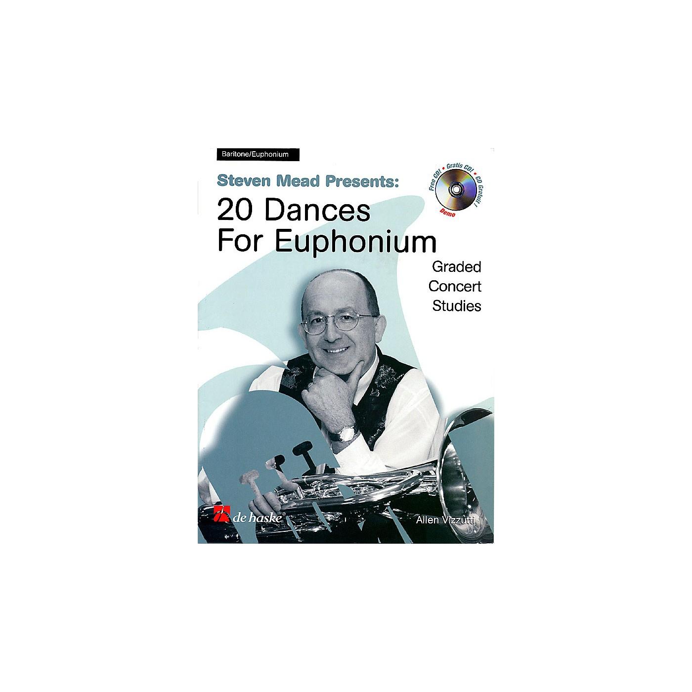 De Haske Music Steven Mead Presents 20 Dances for Euphonium (Bass Clef) De Haske Play-Along Book Series by Steven Mead thumbnail