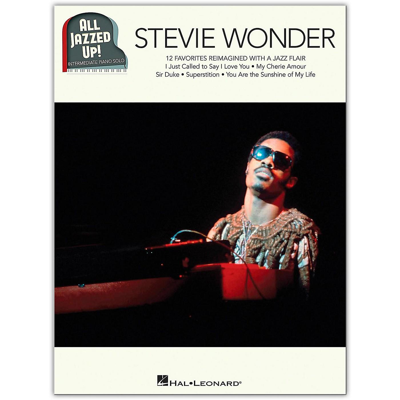 Hal Leonard Stevie Wonder - All Jazzed Up!  Intermediate Piano Solo Songbook thumbnail