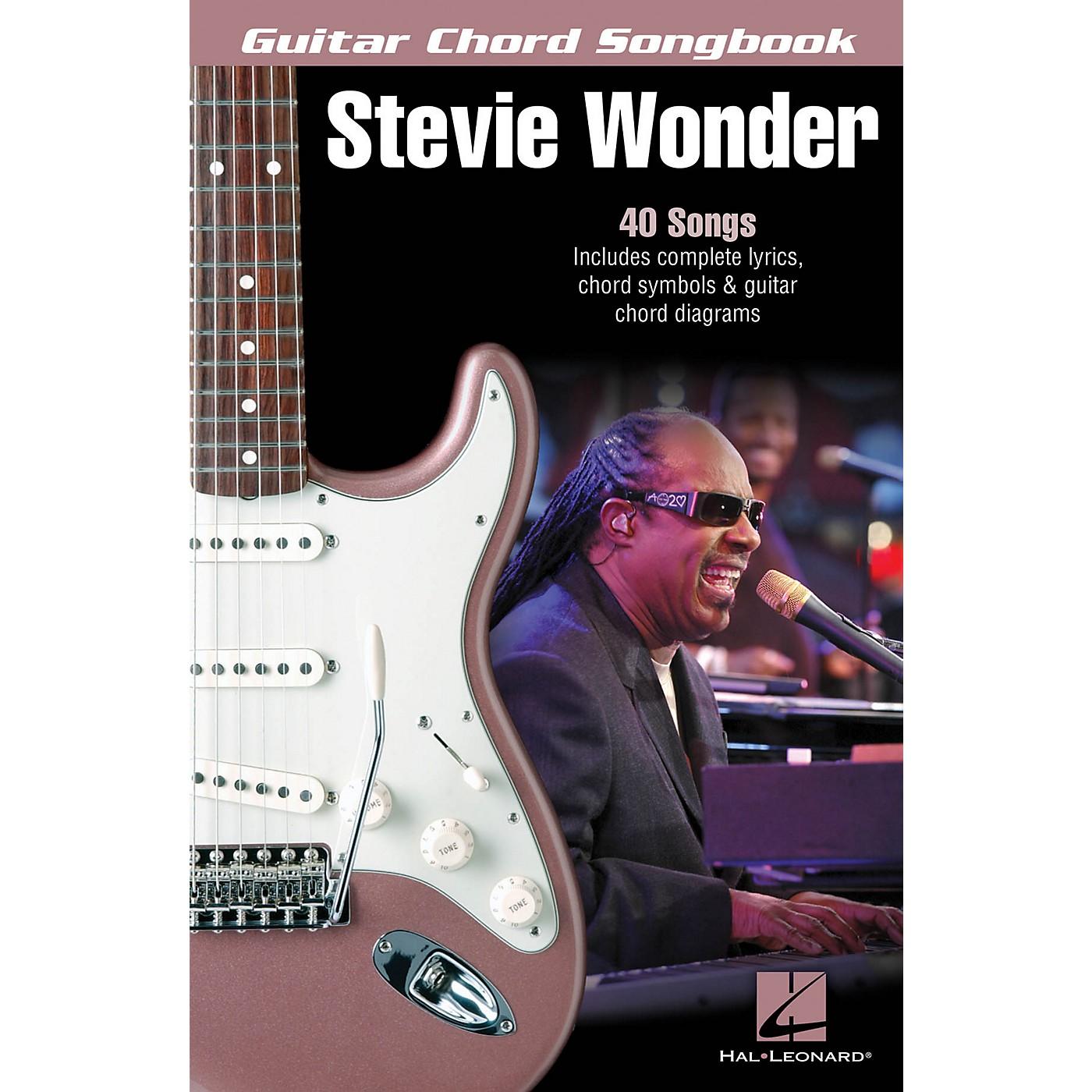 Hal Leonard Stevie Wonder - Guitar Chord Songbook Guitar Chord Songbook Series Softcover Performed by Stevie Wonder thumbnail