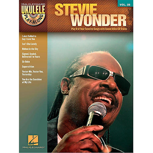 Hal Leonard Stevie Wonder - Ukulele Play-Along Vol. 28 Book/CD thumbnail