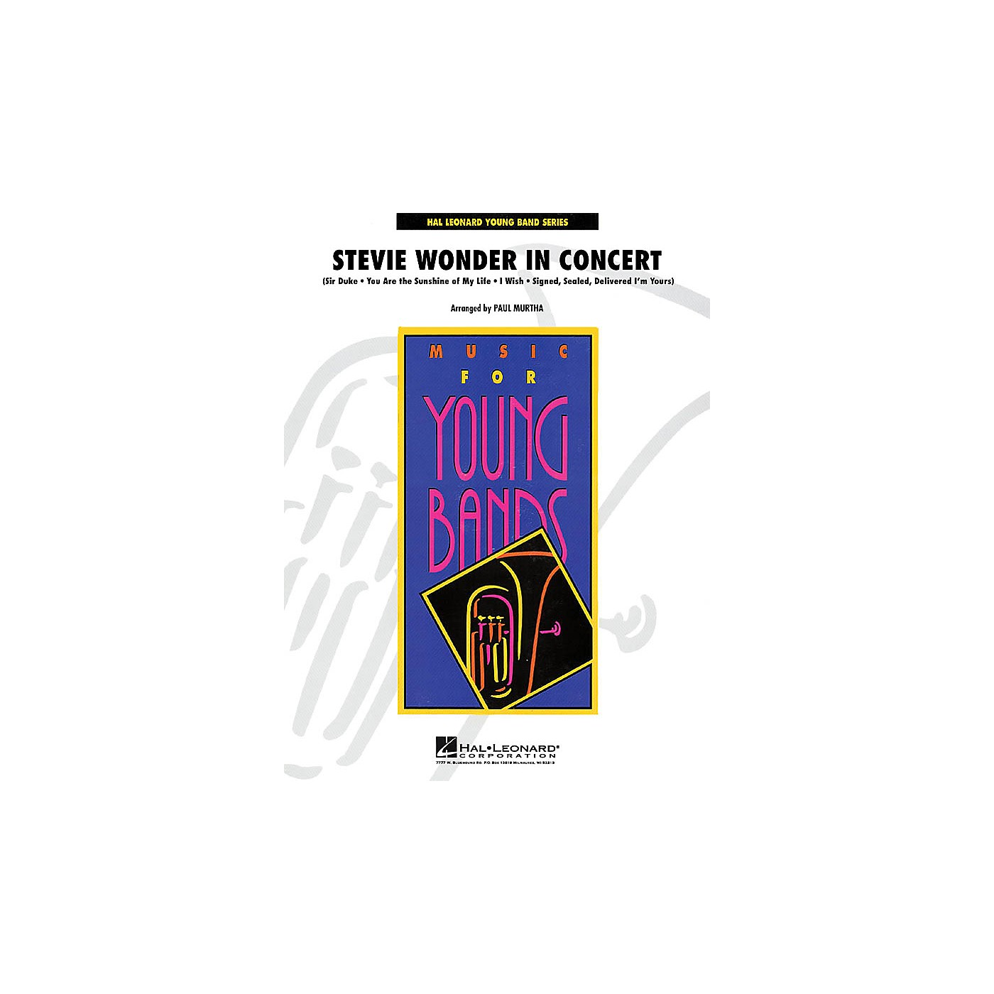 Hal Leonard Stevie Wonder in Concert - Young Concert Band Series Level 3 arranged by John Moss thumbnail