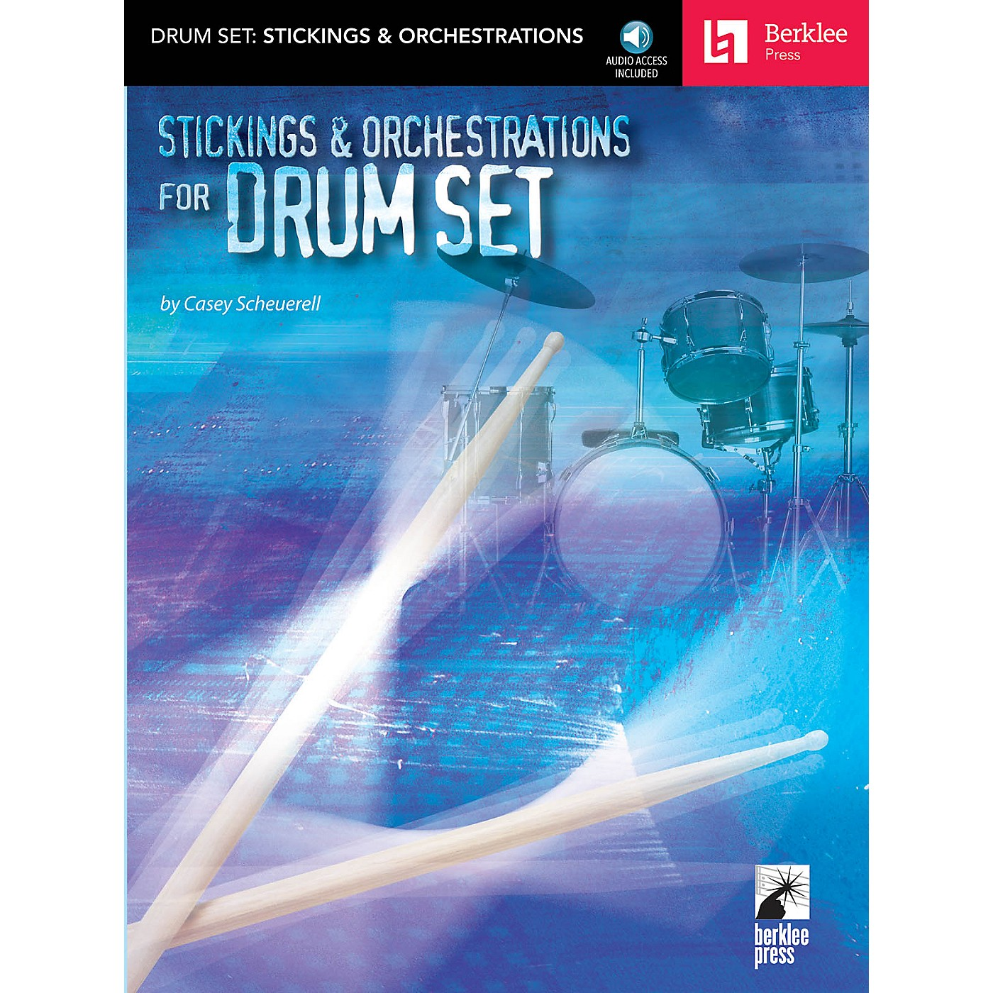 Berklee Press Stickings & Orchestrations for Drum Set Berklee Press Series Softcover with CD Written by Casey Scheurell thumbnail