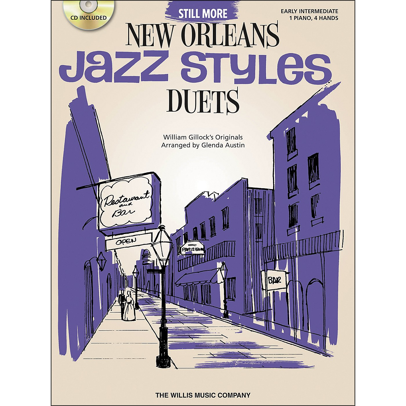 Willis Music Still More New Orleans Jazz Styles - Piano Duets (Early Intermediate 1 Piano 4 Hands) Book/CD by Glenda Austin thumbnail