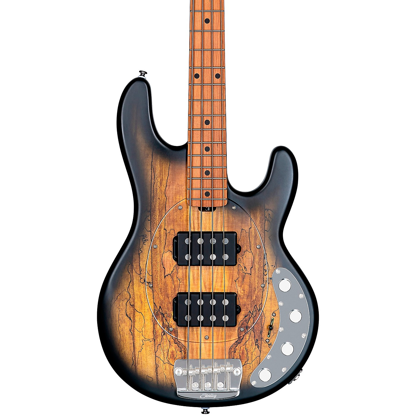 Sterling by Music Man StingRay Ray34HH Spalted Maple Top Maple Fingerboard Electric Bass thumbnail