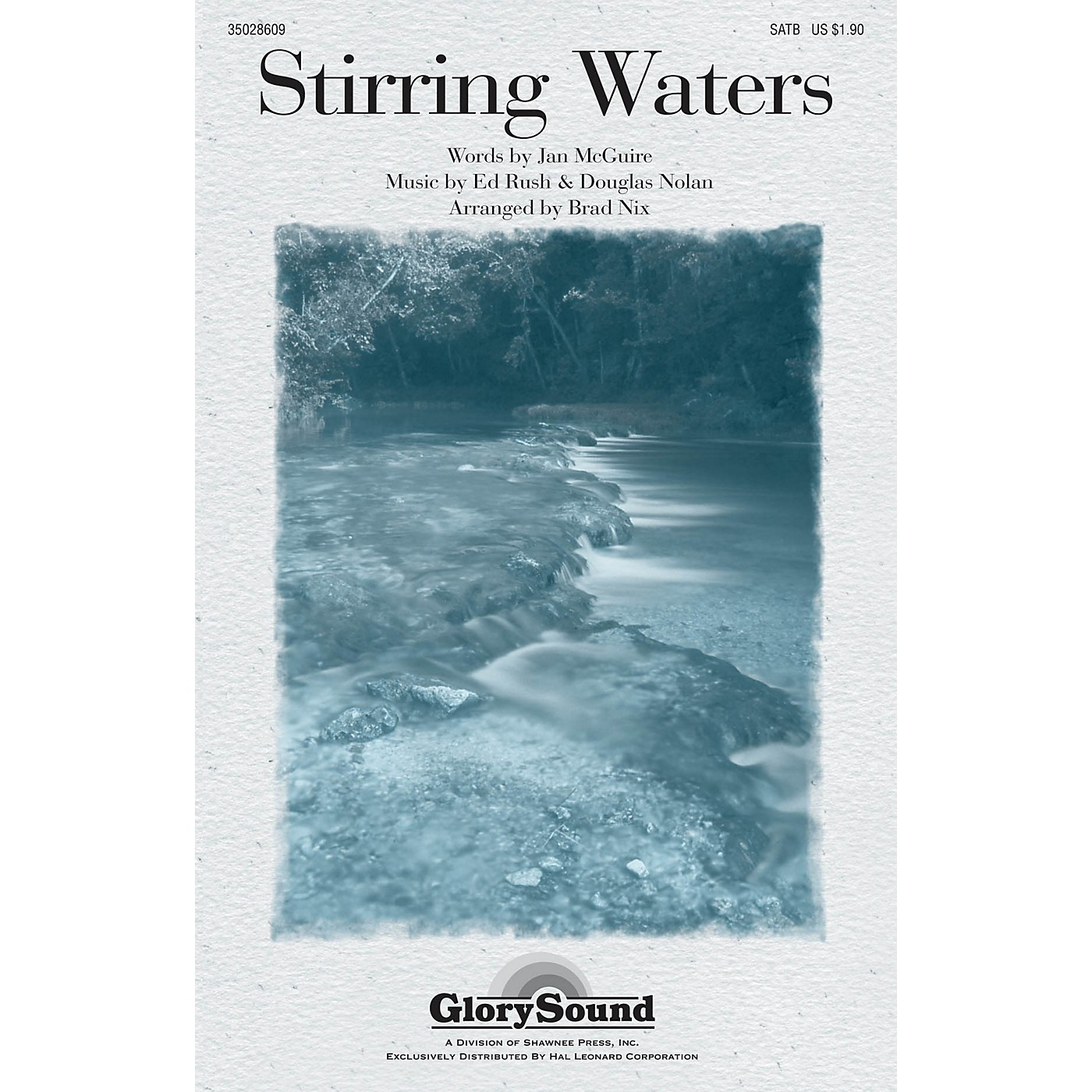 Shawnee Press Stirring Waters SATB arranged by Brad Nix thumbnail