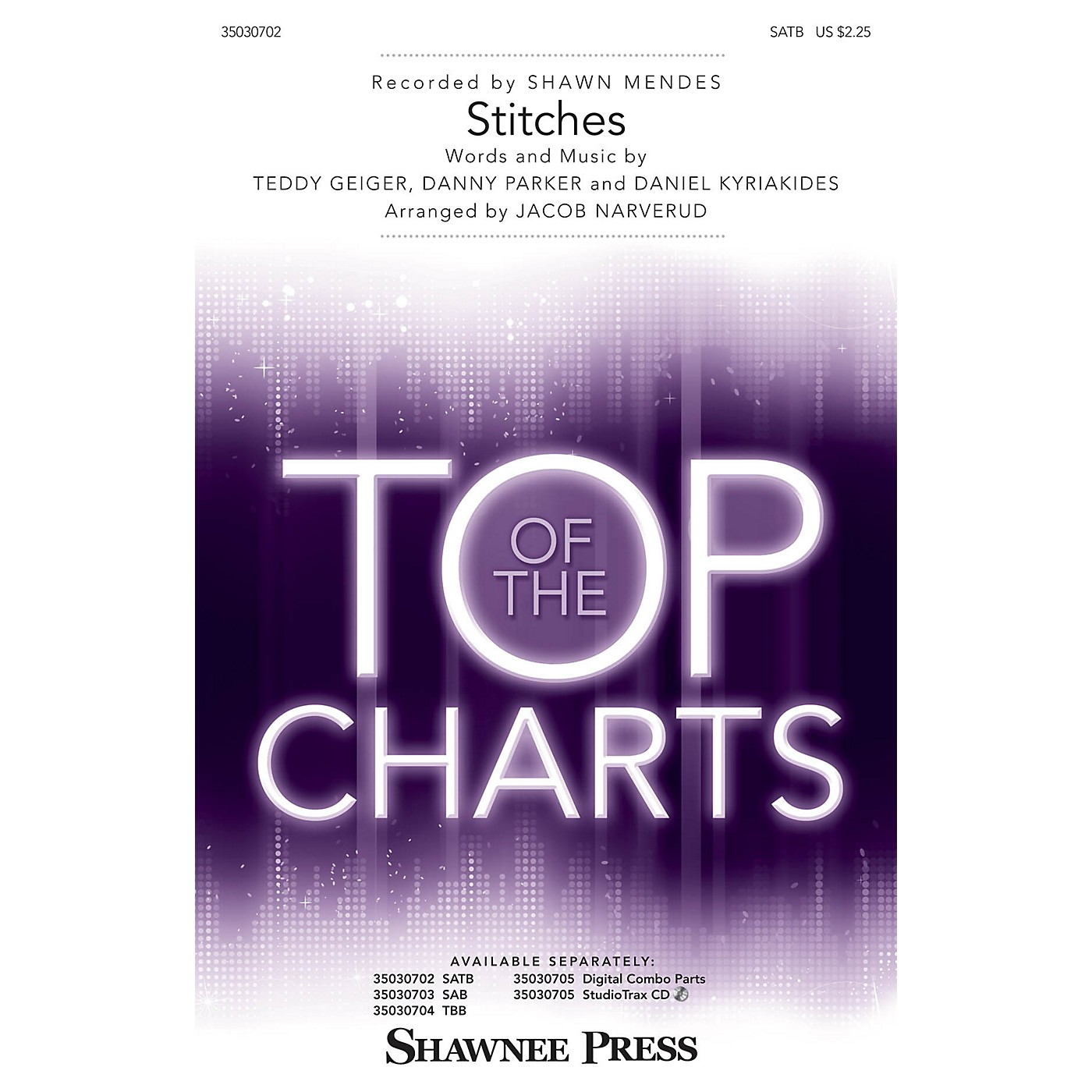 Shawnee Press Stitches SATB by Shawn Mendes arranged by Jacob Narverud thumbnail