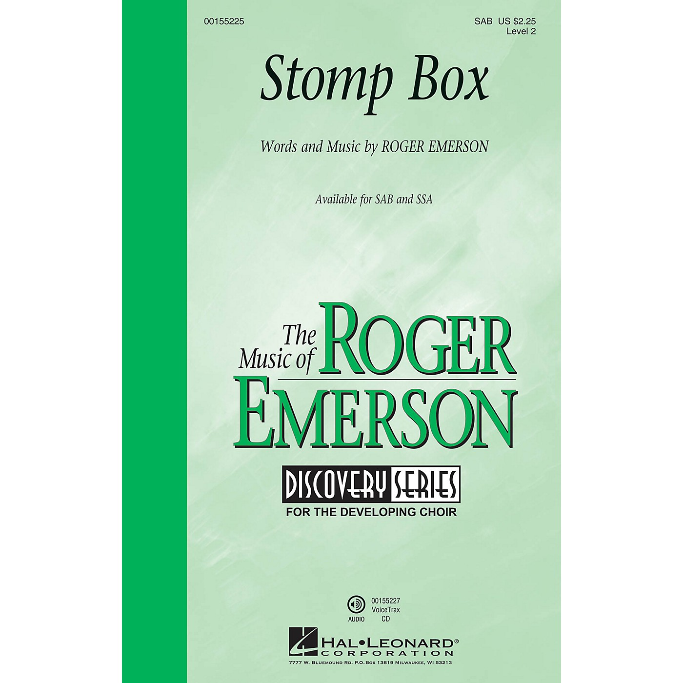 Hal Leonard Stomp Box (Discovery Level 2) SAB composed by Roger Emerson thumbnail