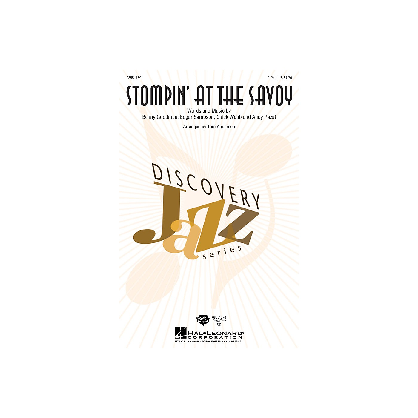 Hal Leonard Stompin' at the Savoy 2-Part arranged by Tom Anderson thumbnail