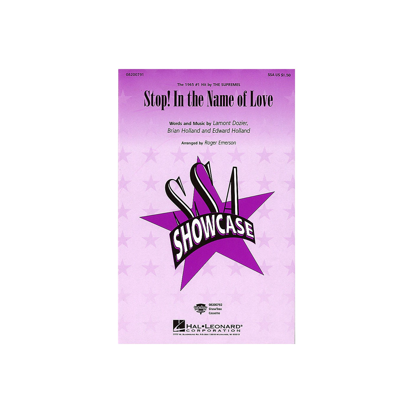 Hal Leonard Stop! In the Name of Love ShowTrax CD by The Supremes Arranged by Roger Emerson thumbnail