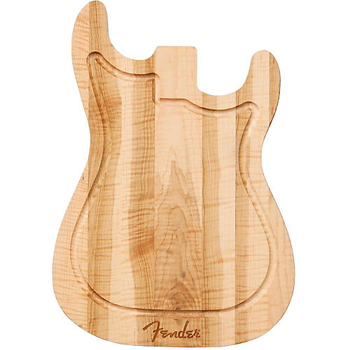 Fender Strat Cutting Board - Figured Maple thumbnail
