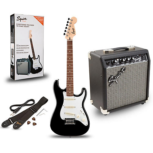 Squier Strat Pack SSS Electric Guitar with Fender Frontman 10G Combo Amplifier thumbnail