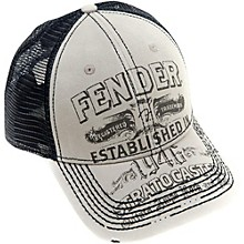 Fender Strat Trucker Hat, Grey, One size