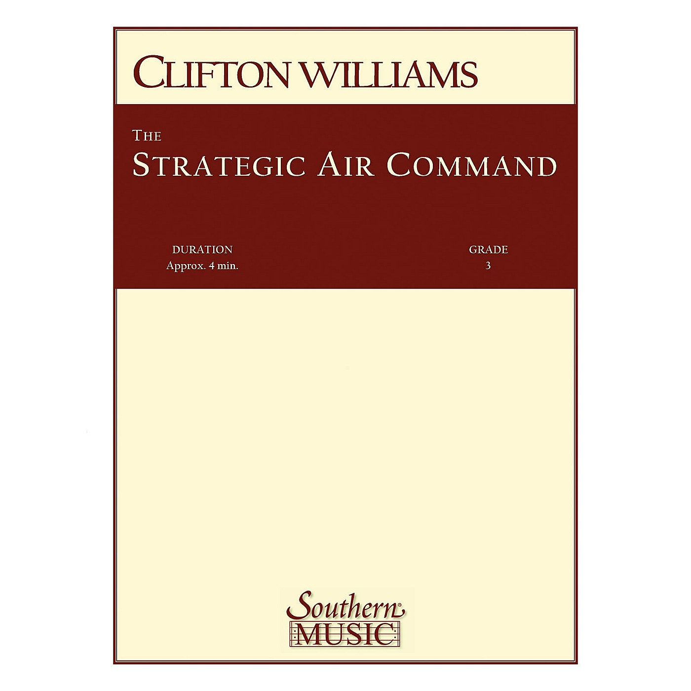 Southern Strategic Air Command (S.A.C.) (Band/Concert Band Music) Concert Band Level 3 by Clifton Williams thumbnail