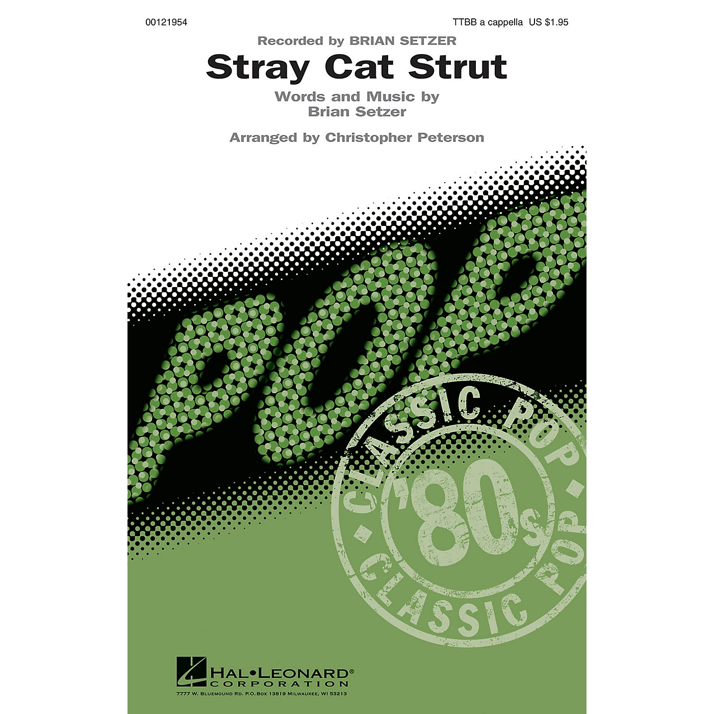 Hal Leonard Stray Cat Strut TTBB A Cappella by Brian Setzer arranged by Christopher Peterson thumbnail