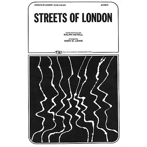 TRO ESSEX Music Group Streets of London SA Arranged by Aden G. Lewis thumbnail