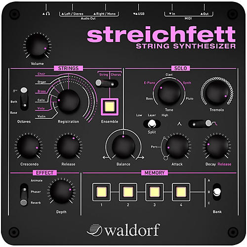 Waldorf Streichfett Desktop Synthesizer thumbnail