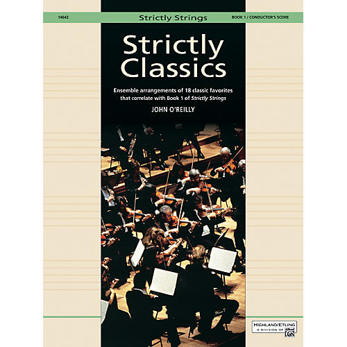 Alfred Strictly Classics Book 1 Conductor's Score-thumbnail