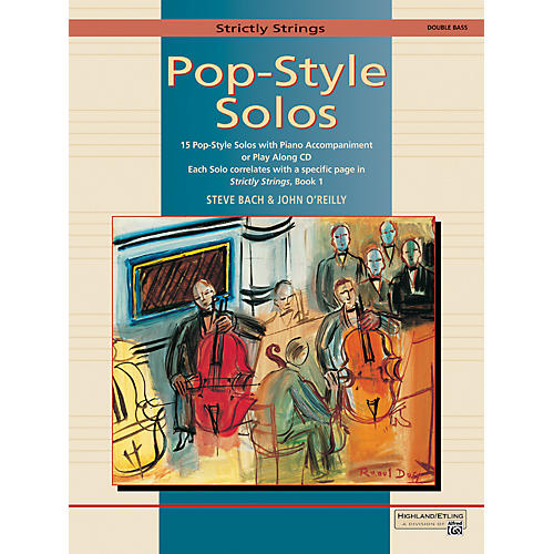 Alfred Strictly Strings Pop-Style Solos Bass Book Only thumbnail