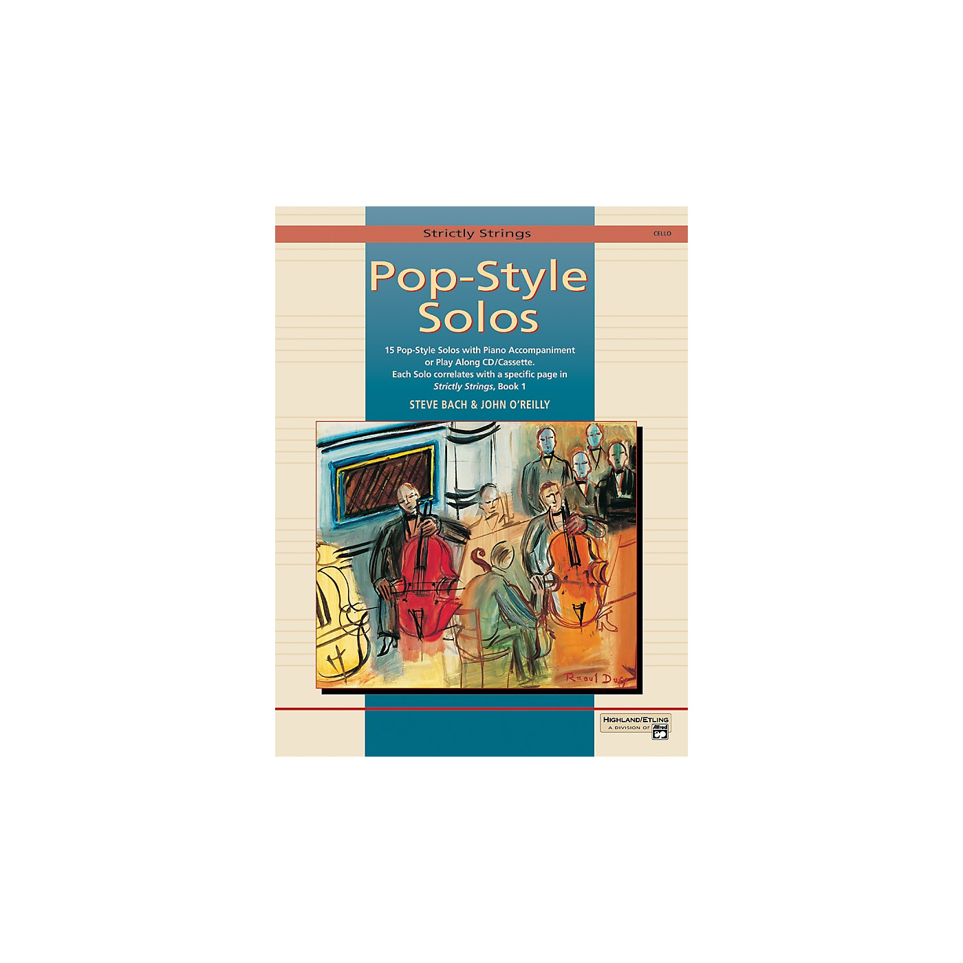 Alfred Strictly Strings Pop-Style Solos Cello Book Only thumbnail