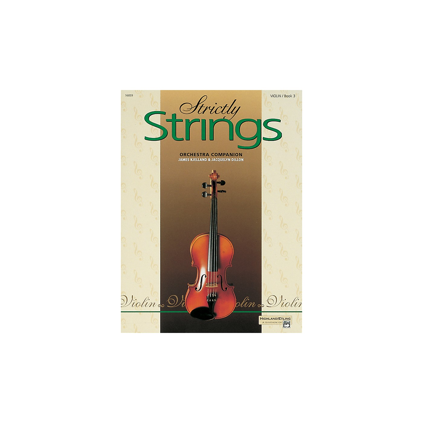 Alfred Strictly Strings for Violin Vol. 3  Book thumbnail