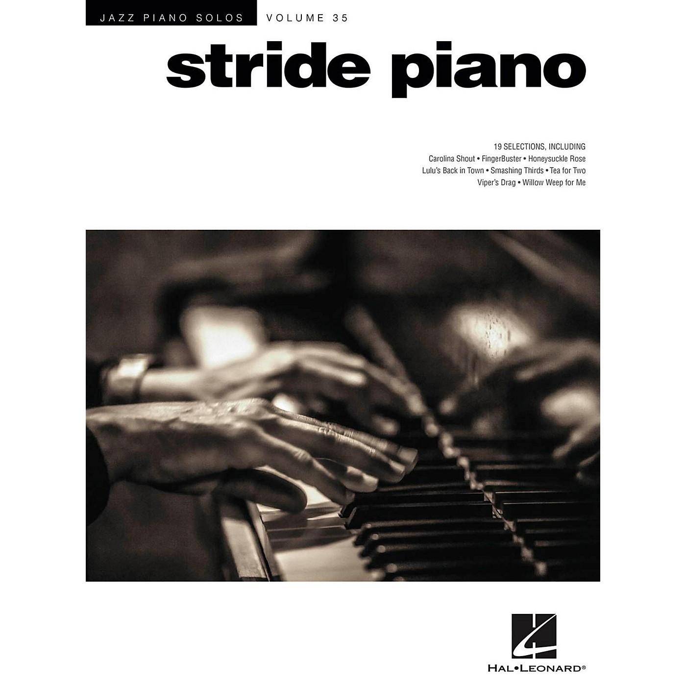 Hal Leonard Stride Piano - Jazz Piano Solos Series Vol. 35 thumbnail