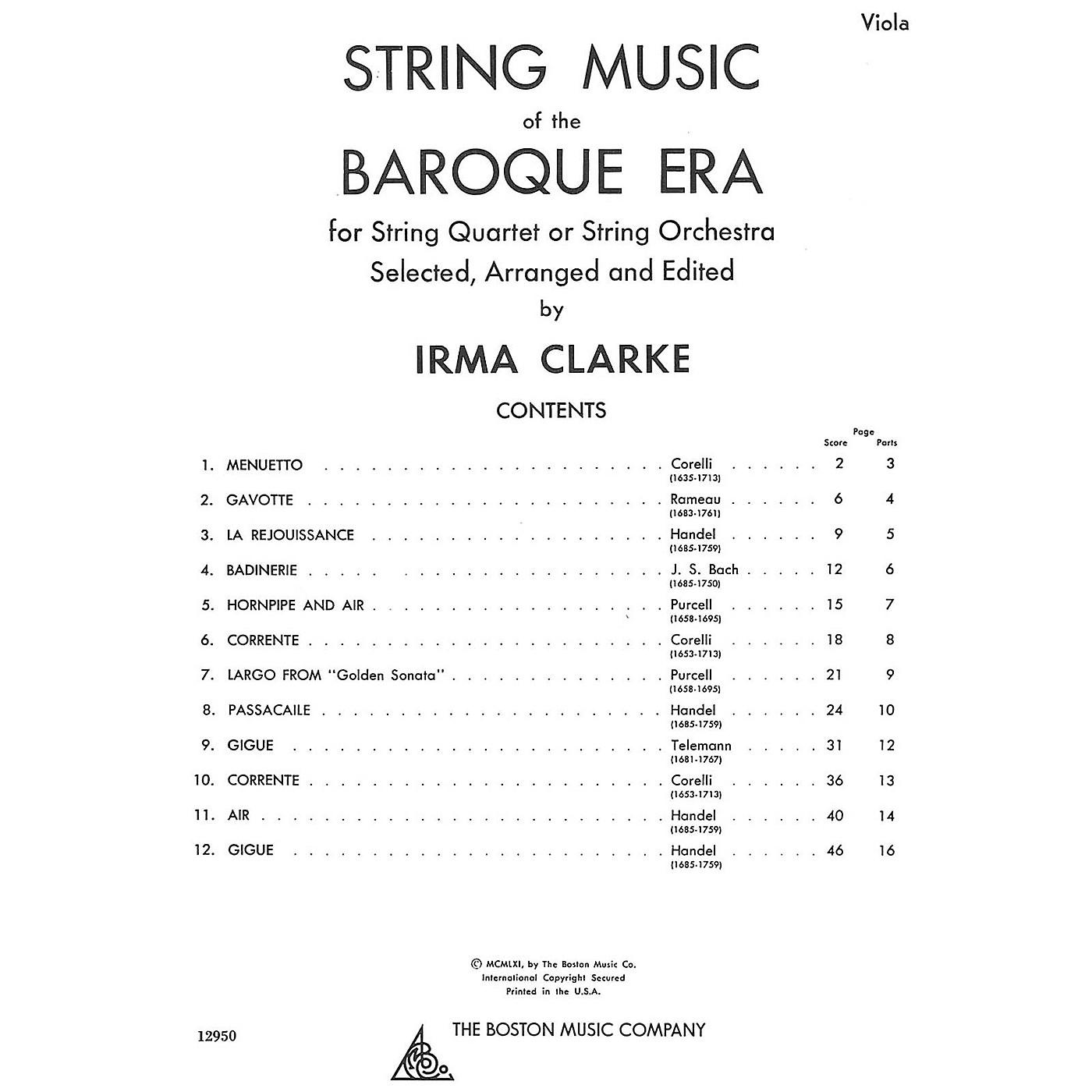 Music Sales String Music Of The Baroque Era - Viola Music Sales America Series thumbnail