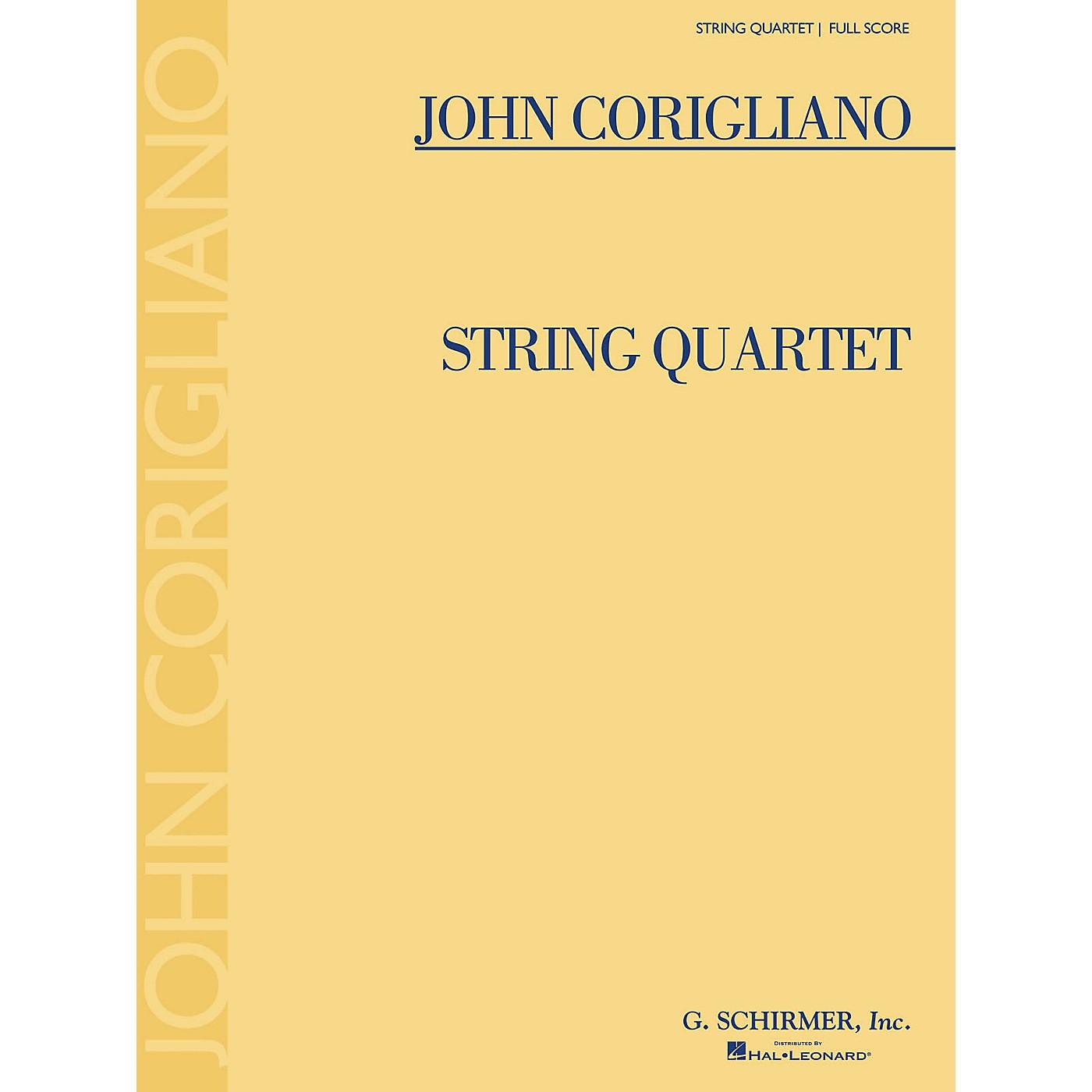 G. Schirmer String Quartet (Full Score) Study Score Series Composed by John Corigliano thumbnail