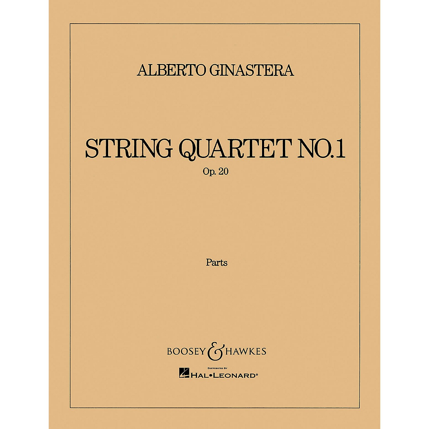 Boosey and Hawkes String Quartet No. 1, Op. 20 (Set of Parts) Boosey & Hawkes Chamber Music Series by Alberto E. Ginastera thumbnail