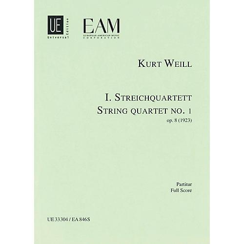 Universal Edition String Quartet No. 1, Op. 8 (Score) Study Score Series Composed by Kurt Weill thumbnail