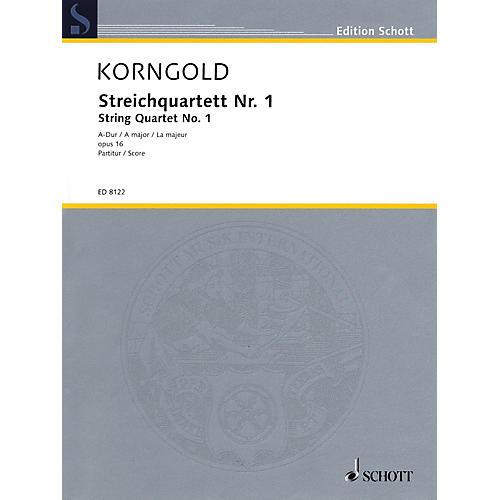 Schott Music String Quartet No. 1 in A Major, Op. 16 (Score) Schott Series Composed by Erich Wolfgang Korngold thumbnail