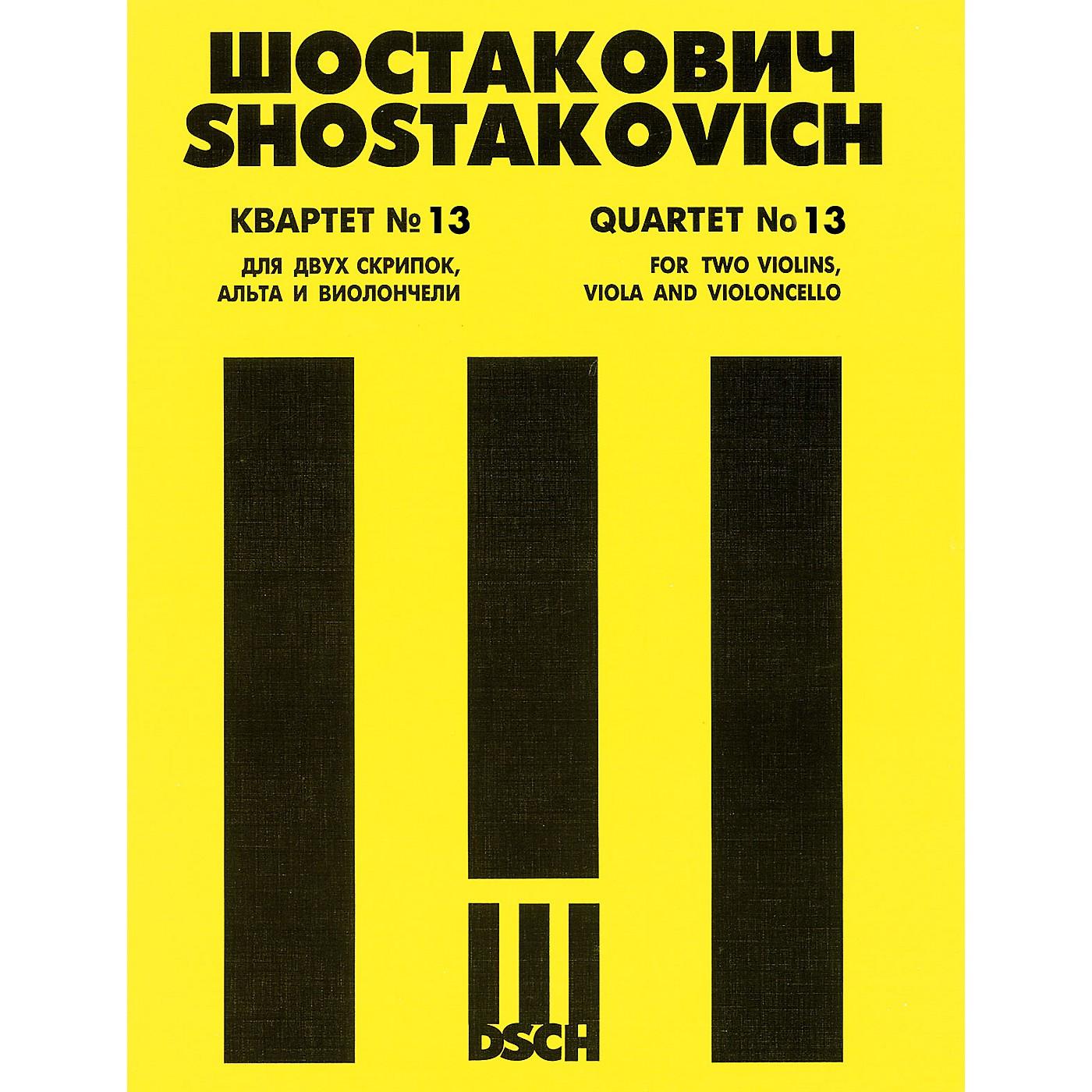 DSCH String Quartet No. 13, Op. 138 (Score) DSCH Series Composed by Dmitri Shostakovich thumbnail