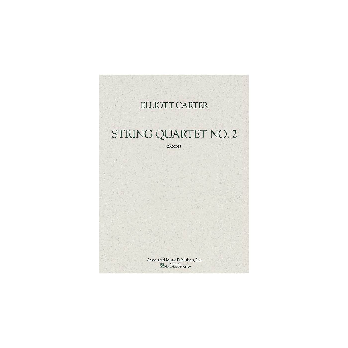 Associated String Quartet No. 2 (1959) (Study Score) Study Score Series Softcover Composed by Elliott Carter thumbnail