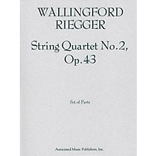 Associated String Quartet No. 2, Op. 43 (Set of Parts) String Series Composed by Wallingford Riegger