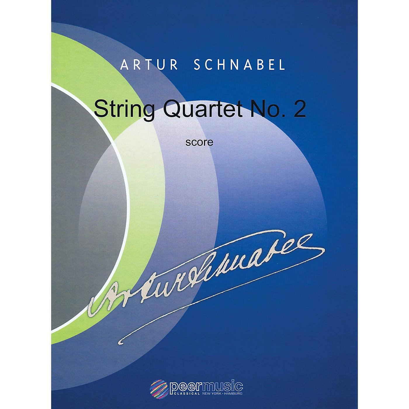 Peer Music String Quartet No. 2 Peermusic Classical Series Composed by Artur Schnabel thumbnail