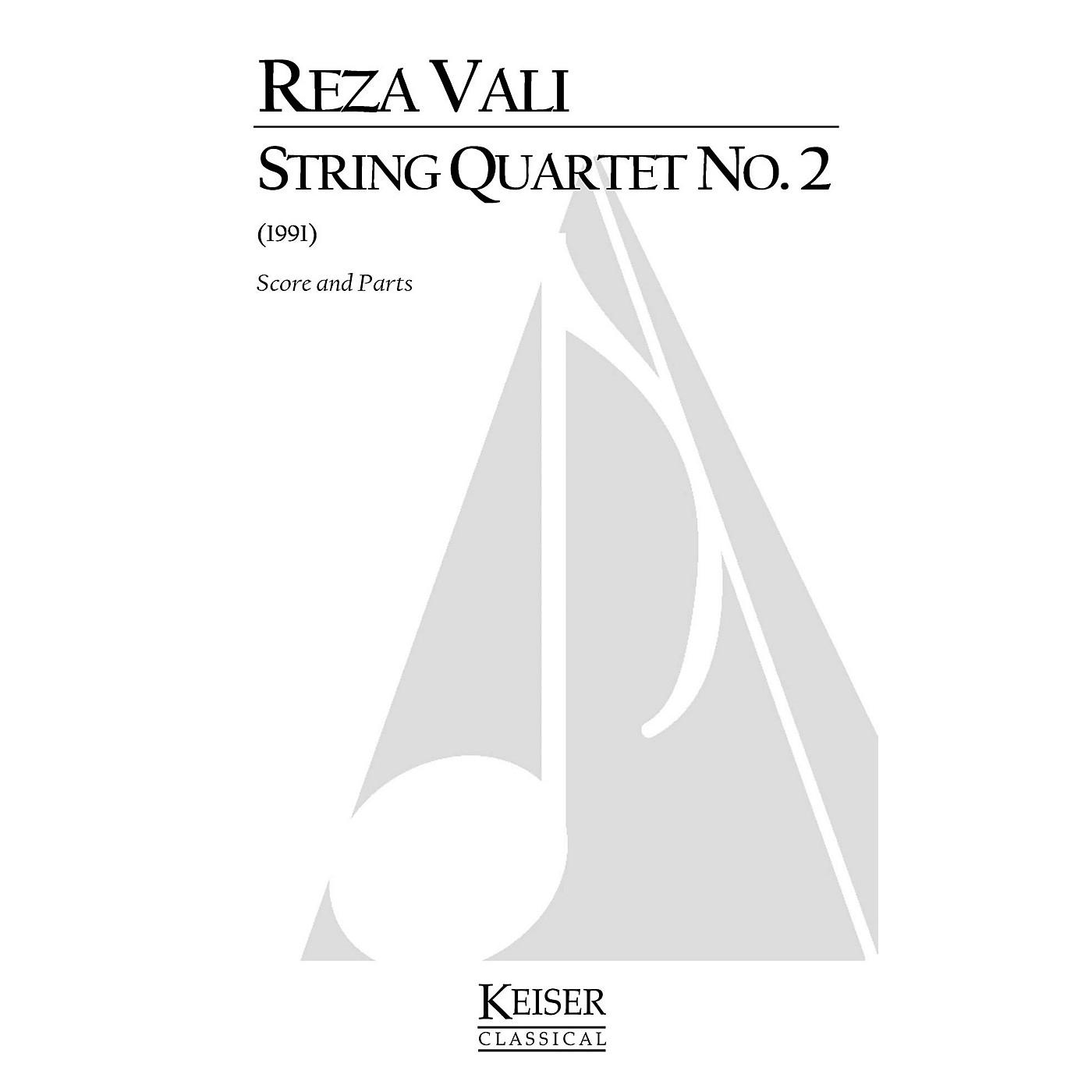 Lauren Keiser Music Publishing String Quartet No. 2 (Score and Parts) LKM Music Series by Reza Vali thumbnail
