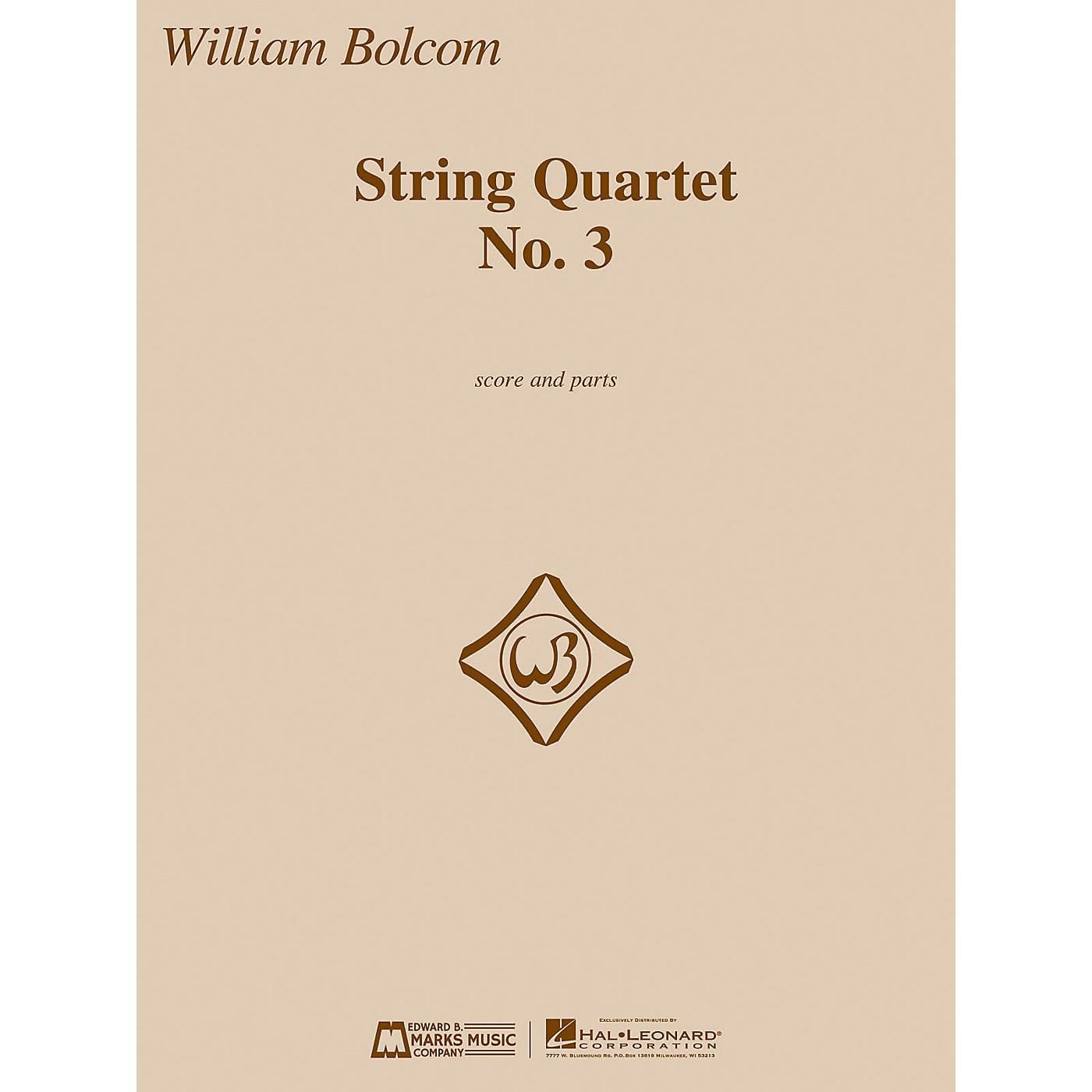 Edward B. Marks Music Company String Quartet No. 3 E.B. Marks Series Composed by William Bolcom thumbnail