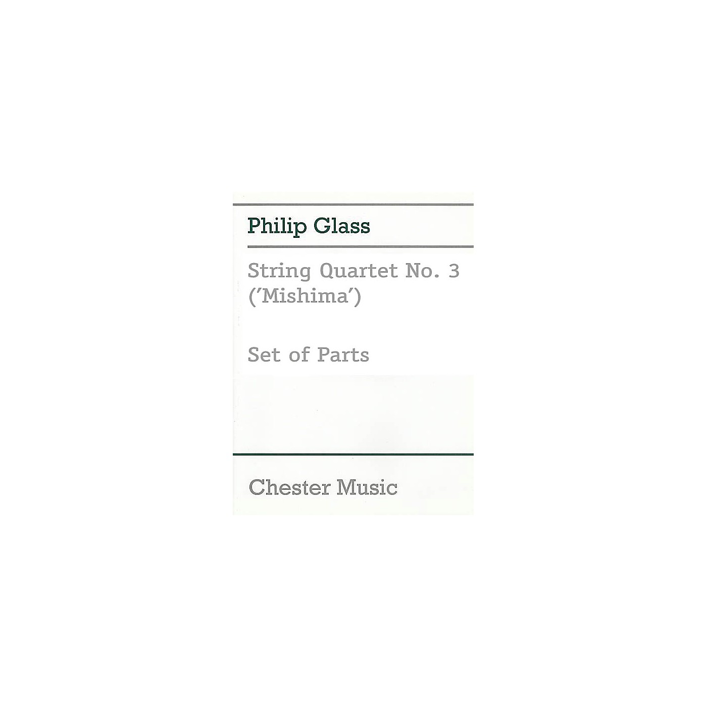 Music Sales String Quartet No. 3 (Mishima) Music Sales America Series Composed by Philip Glass thumbnail