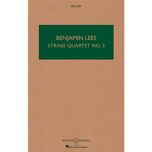Boosey and Hawkes String Quartet No. 3 (Study Score) Boosey & Hawkes Chamber Music Series Softcover by Benjamin Lees thumbnail