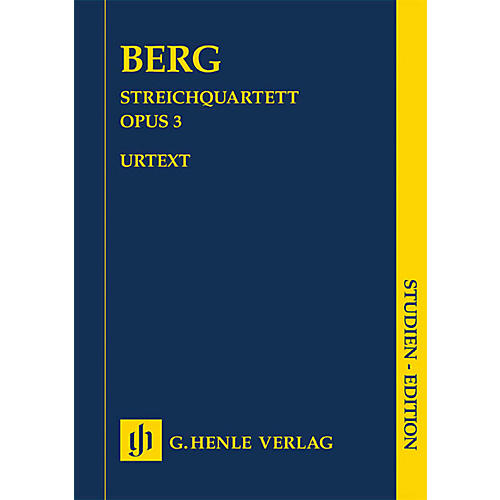 G. Henle Verlag String Quartet No. 3 (Study Score) Henle Study Scores Series Softcover Composed by Alban Berg thumbnail