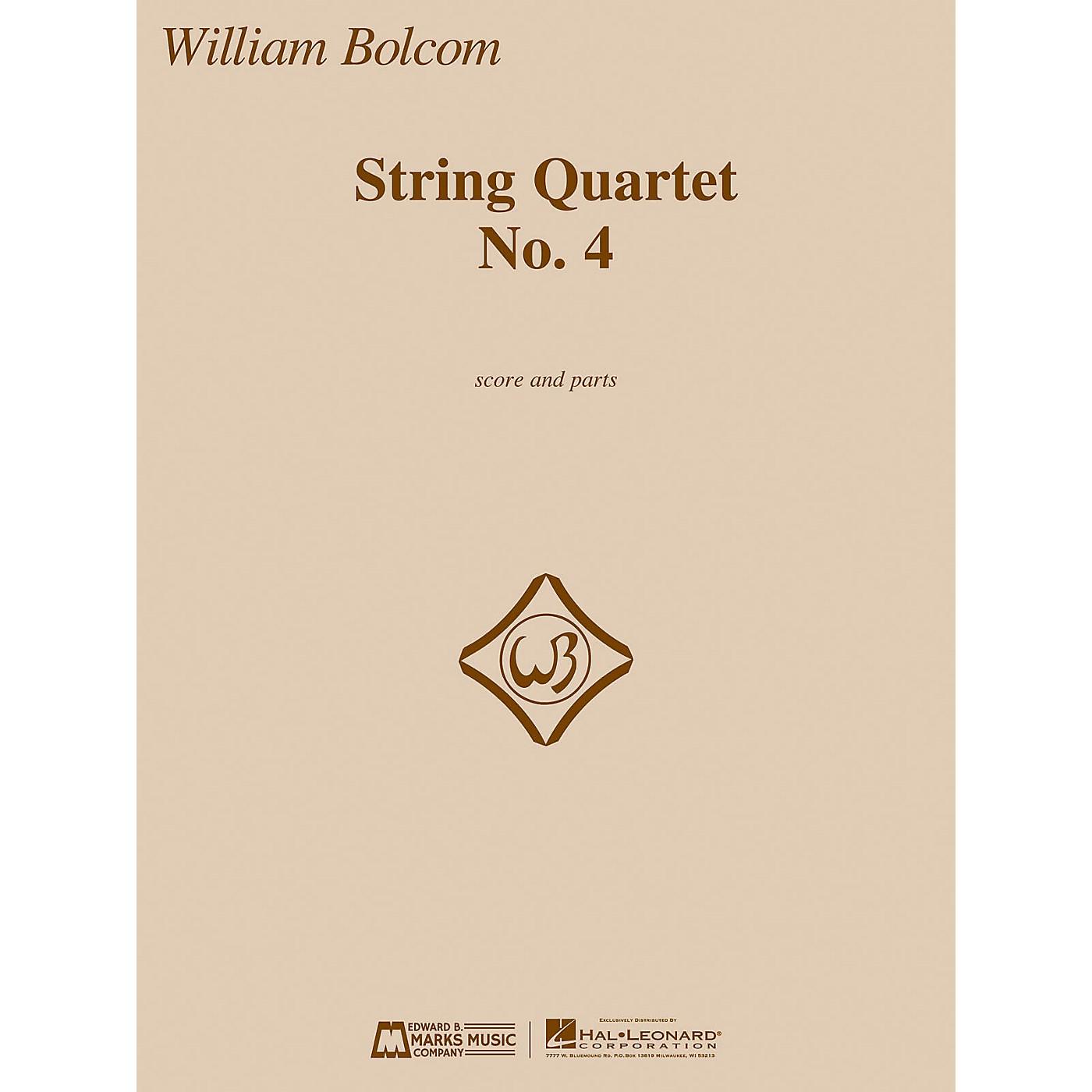 Edward B. Marks Music Company String Quartet No. 4 E.B. Marks Series Composed by William Bolcom thumbnail