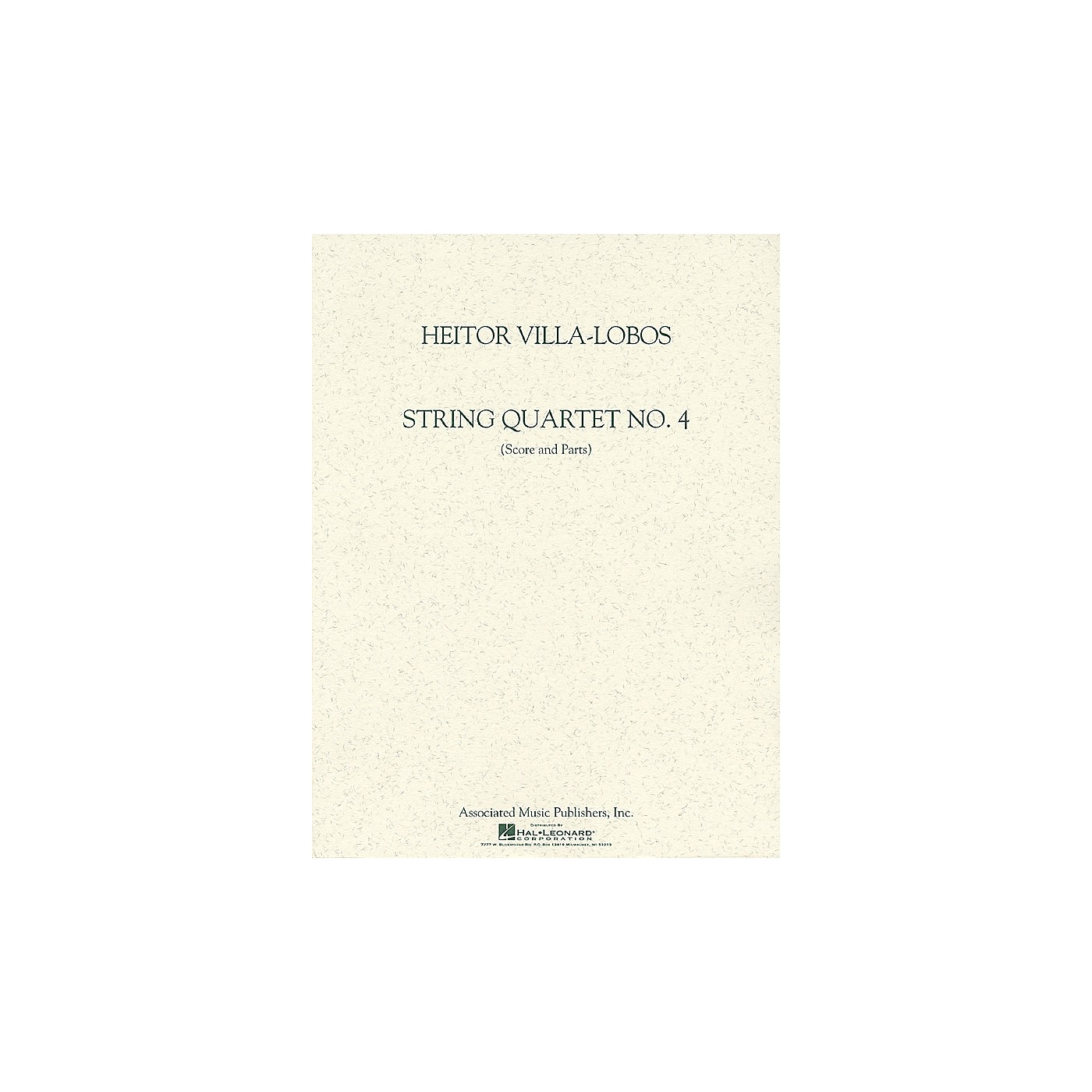 Associated String Quartet No. 4 (Score and Parts) String Ensemble Series Composed by Heitor Villa-Lobos thumbnail