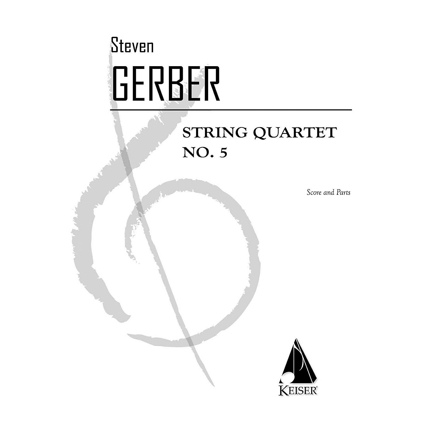 Lauren Keiser Music Publishing String Quartet No. 5 LKM Music Series Composed by Steven Gerber thumbnail
