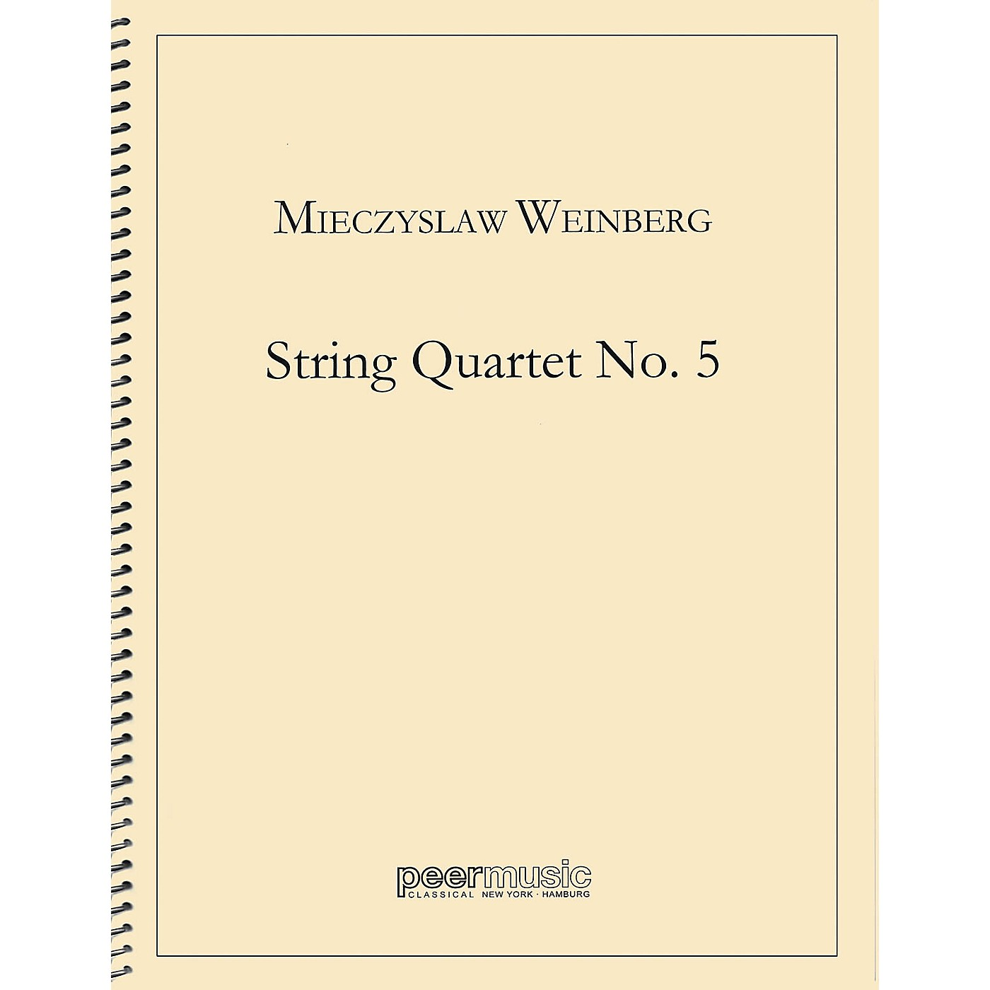 Peer Music String Quartet No. 5 Peermusic Classical Series by Mieczyslaw Weinberg thumbnail