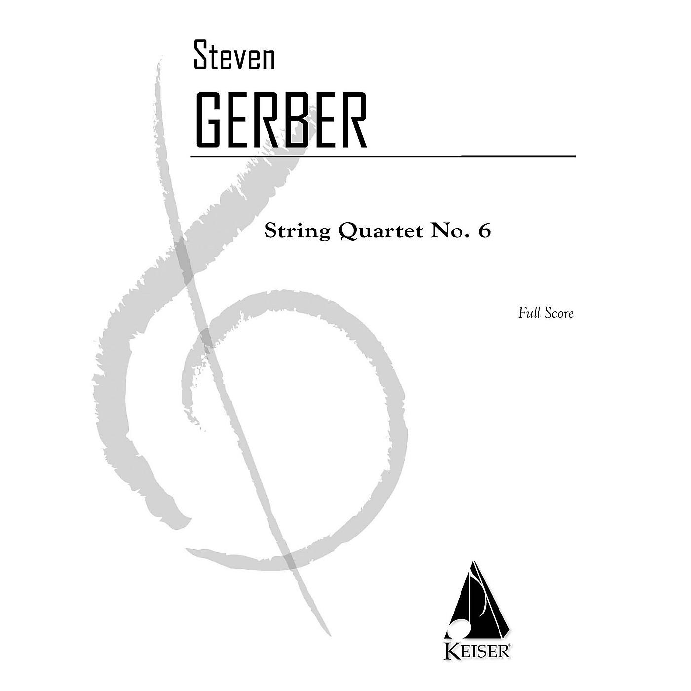 Lauren Keiser Music Publishing String Quartet No. 6 - Full Score LKM Music Series Softcover by Steven Gerber thumbnail
