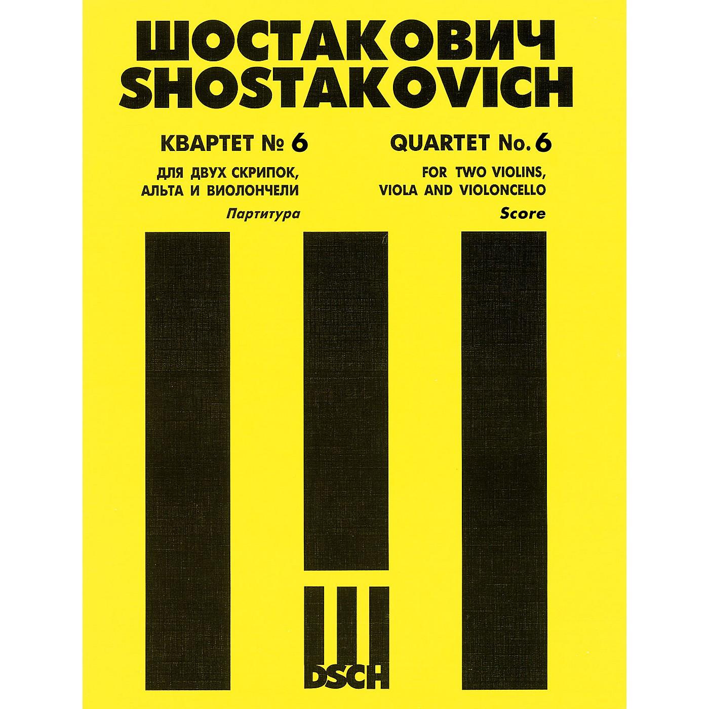 DSCH String Quartet No. 6, Op. 101 (Score) DSCH Series Composed by Dmitri Shostakovich thumbnail
