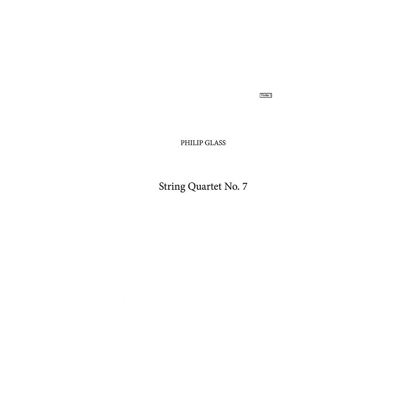 Music Sales String Quartet No. 7 (Parts Only) Music Sales America Series Softcover thumbnail