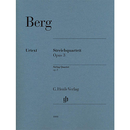 G. Henle Verlag String Quartet Op. 3 (Parts) Henle Music Folios Series Composed by Alban Berg thumbnail